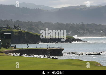 Pebble Beach, USA. 11th Feb, 2017. Pebble Beach, California, USA competing at Pebble Beach links during the third - Stock Photo