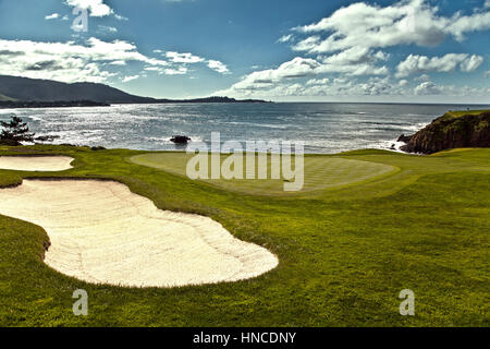 Pebble Beach, USA. 11th Feb, 2017. Pebble Beach, California, USA Pebble Beach links during the famous AT&T Pro-Am, - Stock Photo