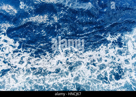 Background blue waves of the sea  - Stock Photo