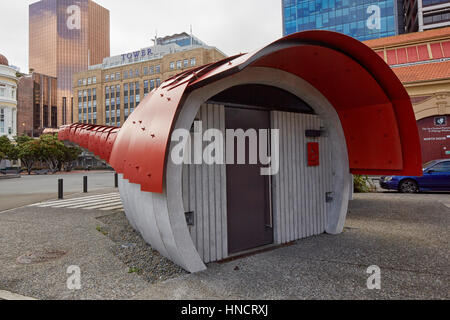 Lobster Loos, public toilets, Queens Wharf, Wellington, New Zealand - Stock Photo