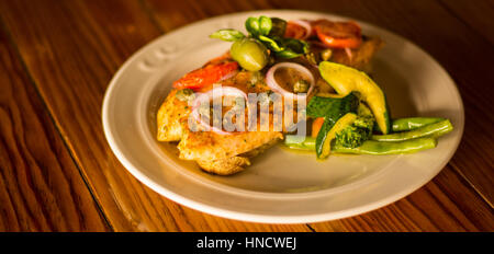 Red Snapper with Vegetables - Stock Photo