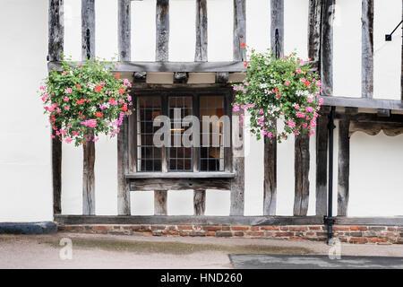 Timbered house, Lavenham, Suffolk UK - Stock Photo