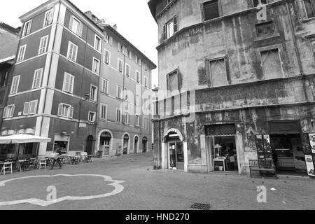 Rome, Italy - January 8, 2017: unidentified people snooping and visiting Rome's jewish ghetto. - Stock Photo