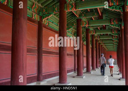 Traditional, architecture, Changgyeonggung Palace, Jongno-gu, Seoul, South Korea - Stock Photo