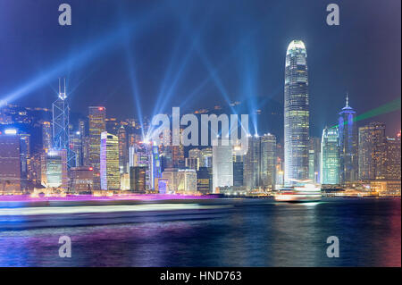 `A Symphony of Lights ´, the stunning multimedia show featuring more than 40 Hong Kong skyscrapers in a dazzling - Stock Photo