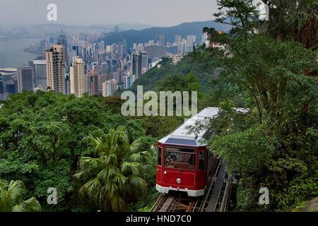 Peak tram ,Hong Kong, China - Stock Photo