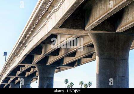 Ingraham Street Bridge, San Diego, California, USA. - Stock Photo