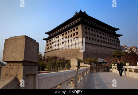 Ruins of the city walls Ming Park. Red Gate Gallery,Beijing, China - Stock Photo