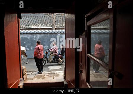 Suoyi Hutong,Beijing, China - Stock Photo