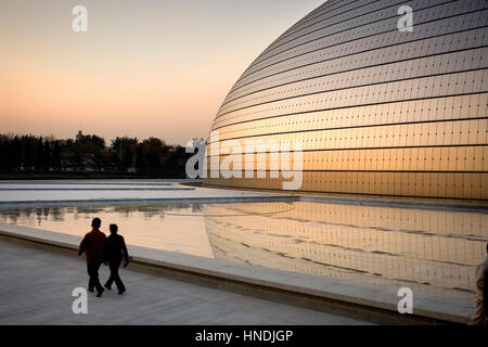 The national grand theater opera house beijing china for Beijing opera house architect