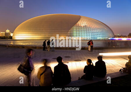 The national opera theater tiananmen square beijing for Beijing opera house architect