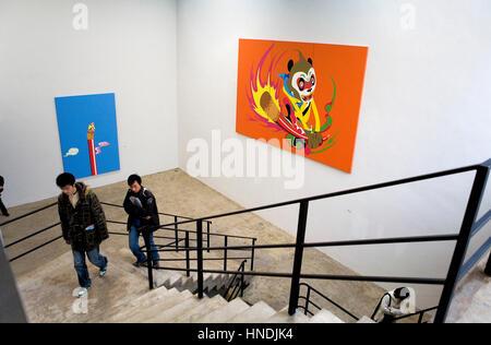 Mook gallery. Nº4 Jiuxianqiao road, in Dashanzi 798 Art District,Beijing, China - Stock Photo
