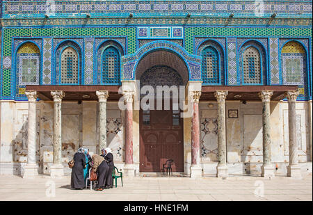 Detail, Dome of the Rock, Temple Mount (Har Ha Bayit), Jerusalem, Israel. - Stock Photo