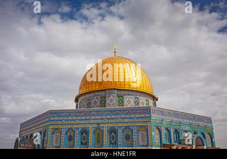 Dome of the Rock, Temple Mount (Har Ha Bayit), Jerusalem, Israel. - Stock Photo