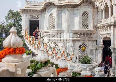 ISKCON temple, Sri Krishna Balaram Mandir,Vrindavan,Mathura, Uttar Pradesh, India - Stock Photo