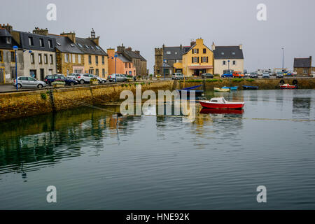 L e Fret, small in Brittany with ferry boat to Brest, Finistere, France - Stock Photo