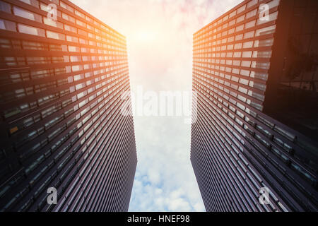 High-rise building in the sky - Stock Photo
