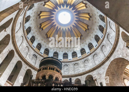 The ceiling over Christ grave in the holy church in Jerusalem. - Stock Photo