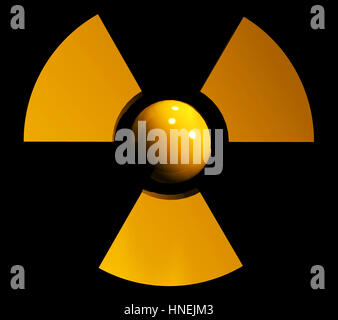 sign of radiation - Stock Photo