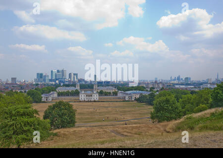 View of Old Royal Naval College, Greenwich, London - Stock Photo