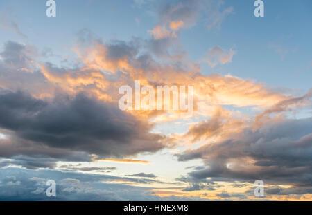 Cloud at sunset, Tauranga, Bay of Plenty Region, North Island, New Zealand - Stock Photo
