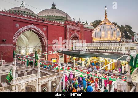 Hazrat Nizamuddin Dargah, Delhi, India - Stock Photo
