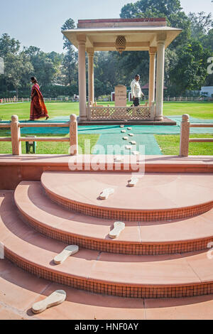 Gandhi Smriti Museum, the home of Mahatma Gandhi for last 144 days of his life, before he was shot on January 30th - Stock Photo