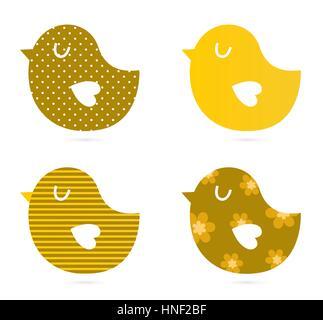 Bird patterned collection : Kids illustration