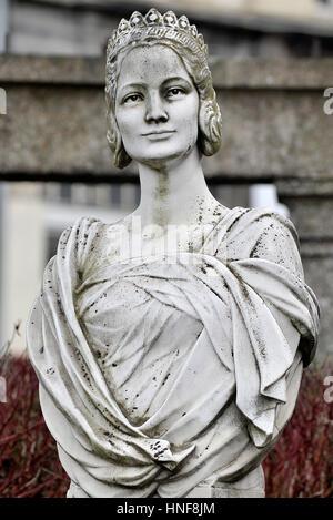 BEGLIUM, ARLON : Illustration shows the Bust of the Belgian Queen Astrid, wife of Leopold III of Belgium.