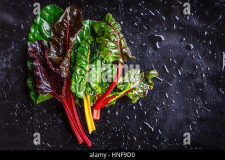 Assorted varieties of chard - Stock Photo