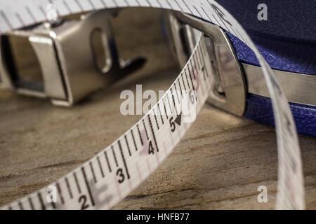 Surveyors Tape Close up - Stock Photo