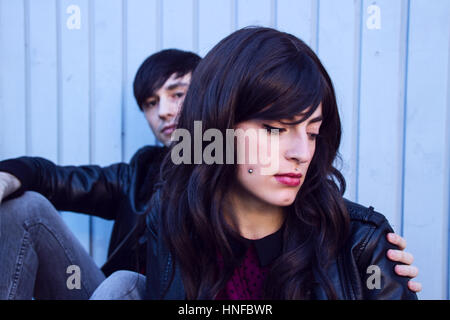Young sad couple with troubles - Stock Photo