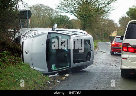 a road traffic accident - Stock Photo