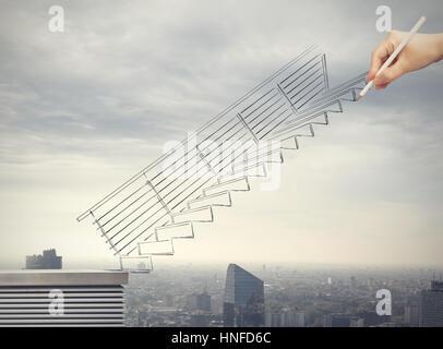 Build a successful career - Stock Photo