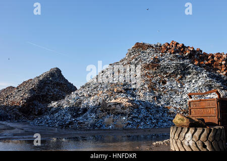 metal recycling plant liverpool uk - Stock Photo