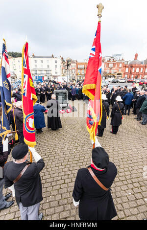 Memorial service to commemorate the 75th anniversary of Operation Fuller when the British tried to stop Germany - Stock Photo