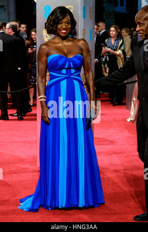 London, UK. 12th February 2017. Viola Davis arrives at the EE British Academy Film Awards on  12/02/2017 at Royal - Stock Photo