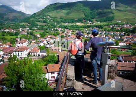 St-Jean-Pied-de-Port.  Pyrénées-Atlantiques, France. - Stock Photo