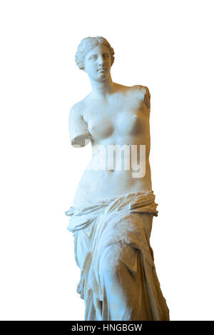 PARIS, FRANCE - MAY 13: Venus de Milo in Louvre on May 13, 2015 in Paris. With over 60k sqM of exhibition space, - Stock Photo