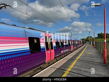 British Rail Class 350/4 Desiro Transpennine Express electrical multiple unit at Oxenholme Station, Cumbria, England, - Stock Photo