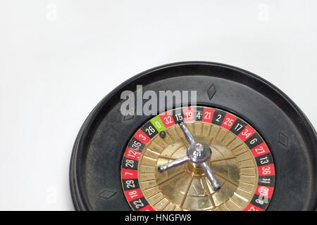 toy roulette wheel for freestanding. zero in focus - Stock Photo
