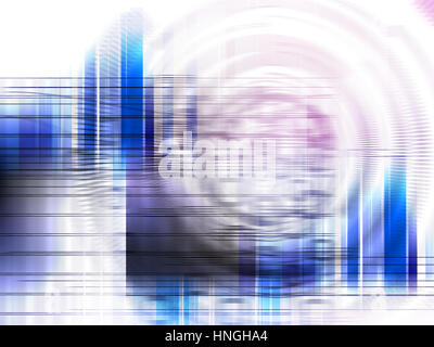 Abstract background element and fractal graphics technology concept.Three-dimensional composition of repeating transparent - Stock Photo