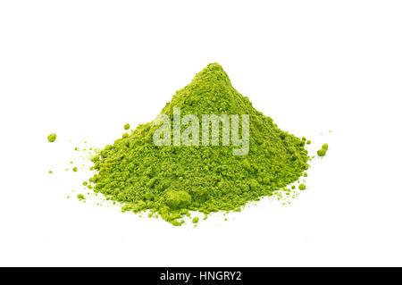 powdered green tea matcha - Stock Photo