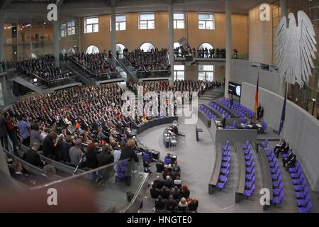 Berlin, Germany. 12th February 2017. A moment of the 16th Federal Assembly in 2017 in the Reichstag building. The - Stock Photo
