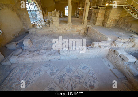 Ancien mosaic in Madaba, Jordan - Stock Photo