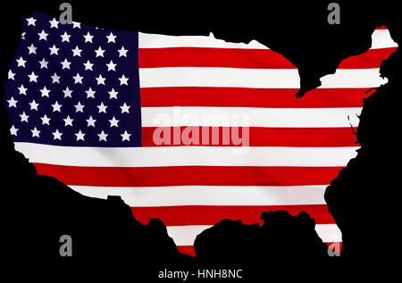 An US State Map In Black And White D Stock Photo Royalty Free - Black and white united states map