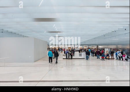 France, Lens, interior ot the Louvre Lens museum designed by SANAA - Stock Photo
