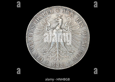 German Thaler of Frankfurt - Stock Photo