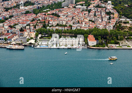 Istanbul, Turkey - May 1, 2016 : Four Seasons Hotel, Istanbul from air - Stock Photo