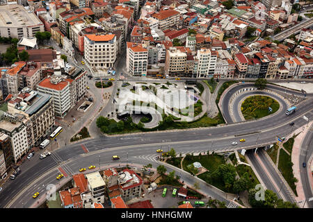 Istanbul, Turkey - May 1, 2016 : Istanbul from air - Stock Photo